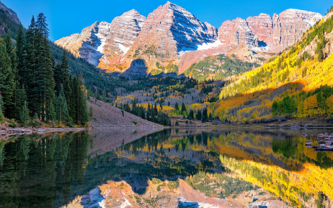 The Famous Maroon Bells Fall Foliage