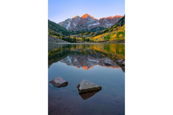 Maroon Bells Sunrise Reflection