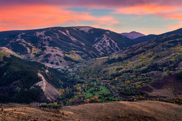 Sunset over Beaver Creek Colorado Fine Prints Wall Art