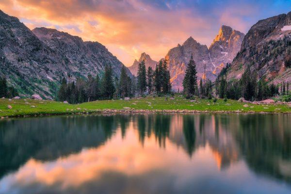 Lake Solitude Sunrise Grand Teton Wyoming Fine Prints Wall Art