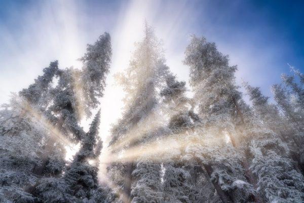 Snowy Sun Rays Beaver Creek Colorado Fine Prints Wall Art