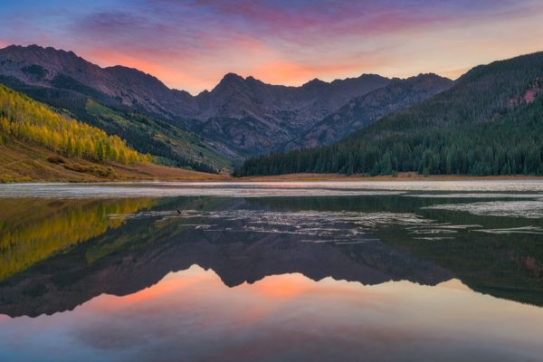 Piney Lake Sunrise Vail Colorado Fine Prints Wall Art
