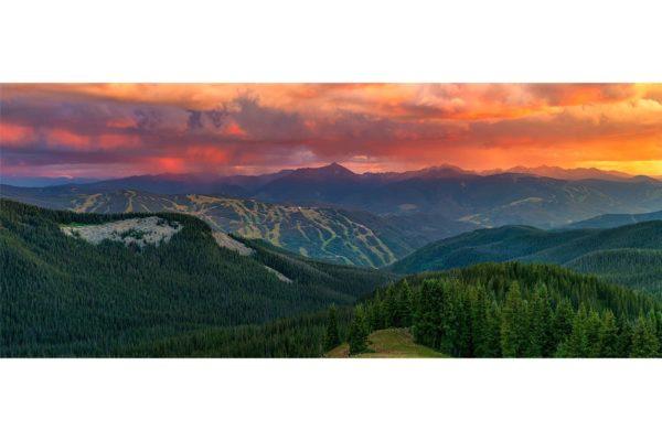 Vivid Vail Sunset Panorama Colorado Shop Fine Prints Wall Art